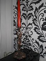 Подсвечник девушка высота 23см старинный СССР