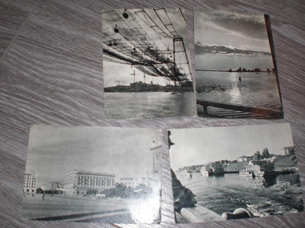 Набор открыток СТАЛИНГРАД ЯРОСЛАВЛЬ 1958г 4 ШТ