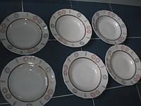 Тарелки  СССР Коростень 24 см 6 шт новые