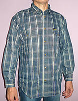 Джинсовая клетчатая рубашка