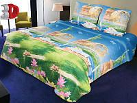Комплект постельного белья ТЕП Resrline 3D (Синий, зеленый)