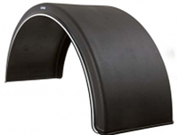 Крыло пластиковое Domar с белой каймой B-550 мм, Италия