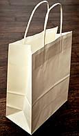 Бумажный пакет, крафт бумага, цвет белый, 27 см * 21 см * 11 см