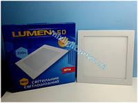 Светодиодный встраиваемый светильник квадрат 18W Lumen