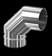 Колени для дымохода фиксированные одностенные из нержавеющей стали (90°)