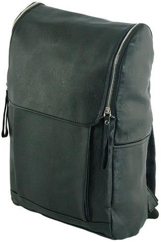 Практичный рюкзак из искусственной кожи 14 л. Traum 7050-35, черный