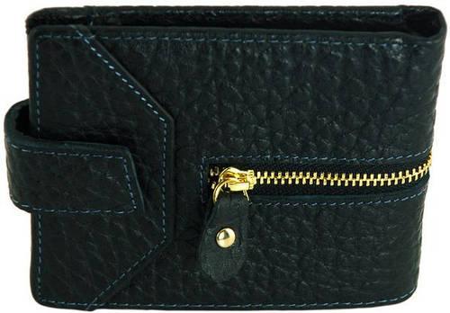 Эффектный мужской бумажник из натуральной кожи Traum 7110-35, черный