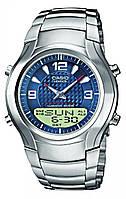 Мужские часы CASIO EFA-112D-2AVEF, синий циферблат, стальные