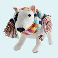 FUZZY NATION - Сумочка-собачка Бультерьер в шарфике