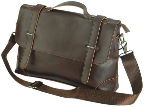 Мужской стильный кожаный портфель Traum 7170-15, коричневый