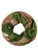 Снуд универсальный с зелеными разводами, фото 1