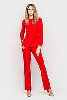 Брючный костюм женский блуза+брюки красного цвета