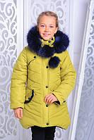 Детская зимняя утепленная куртка для девочки