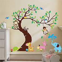 Декор, Интерьерная наклейка в детскую - Животные