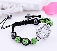 Женские часы / браслет шамбала зеленый