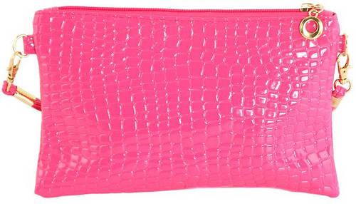 Яркий женский клатч из искусственной кожи Traum 7202-13, розовый