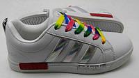 Женские кроссовки  Adidas SuperStarNMD белые с серебром оригинал