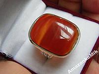 """Серебряное кольцо """"Чили"""" натуральный красный агат !"""
