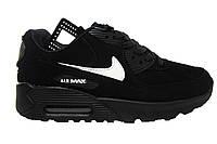 Женские кроссовки Nike Air Max, замша, черные, Р. 36 39