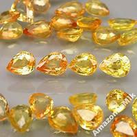 Натуральные сапфиры-золотисто-желтый цвет, 5.83Кр!