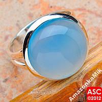 """Серебряное кольцо""""Аква"""" натуральный агат !"""
