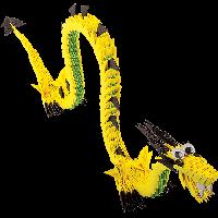 """Модульное оригами Бумагия """"Китайский солнечный дракон"""" 635 модулей ОВ6009"""