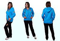 Теплый женский спортивный костюм из  трикотажа Зима