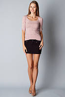 Короткая юбка женская джинс  черная