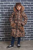 Пальто для девочки зима Бабочки, фото 1