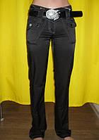 Женские брюки черные c ремнем в комплекте