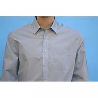 Рубашка однотонная с длинным рукавом классика