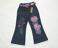 Штаны джинсовые для девочек 3-4-5 лет