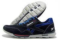 Кроссовки мужские Reebok T9 черные с синим (рибок)