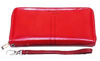 Женский кошелек барсетка Michael Kors MK-356-2048 красного цвета из натуральной кожи