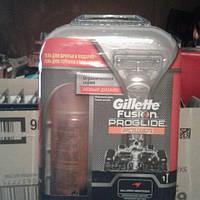 Набор станок Gillette Fusion ProGlide Power на подставке + гель для бритья ProGlide 75 мл.