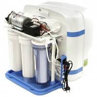 5-ти стадийная система очистки воды с насосом в пластиковом корпусе QM-72 Raifil 50 GPD