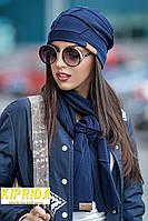Комплект (шапка и шарф собранная в виде мозаики)