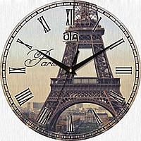 Стильные настенные часы, Париж. Эйфелева башня.