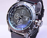 Мужские часы  U-BOAT Italo Fontana Black календарь