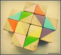 Детские деревянные кубики BabyBro 4х4х4см 12 шт