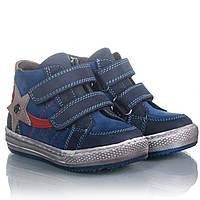 Кожаные  ботинки для мальчика 21,22,23 синие, спортивные, супинатор Tурция