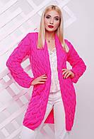 "Яркий женский кардиган""LOLO"" (ярко-розовый), фото 1"