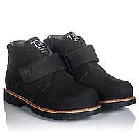 Кожаные  ботинки для девочки 31,32,33,34,35,36 черные каблук Томаса, супинатор Tutubi