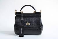 Черная сумка-тоут Dolce & Gabbana 'Sicily'