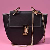 Черная кожаная сумка Chloe Drew