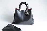 Черная кожаная сумка Dior Diorissimo