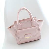 Розовая женская сумка трапеция ,кроссбоди