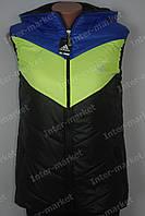 Женская спортивная жилетка Adidas на замке  черная