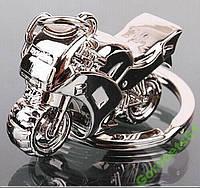 Металлический 3D брелок Мотоцикл на ключи