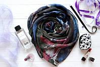 Женски шарф в цветные разводы